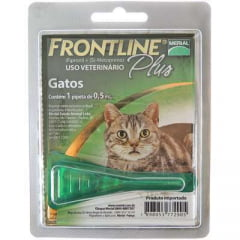 Antipulgas e Carrapatos Frontline Plus para Gatos 0,5ML
